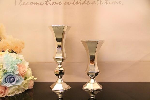 Vazo me lule argjendi, mbajtëse qirinjsh, pjesë kryesore e dasmave - Furnizimet e partisë - Foto 2