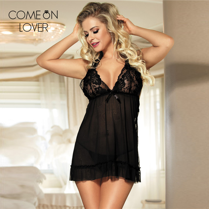Comeonlover Women sexy babydoll underwear new plus size 5XL/6XL/7XL dessous sexy RE70098 lace backless lingerie sexy hot erotic