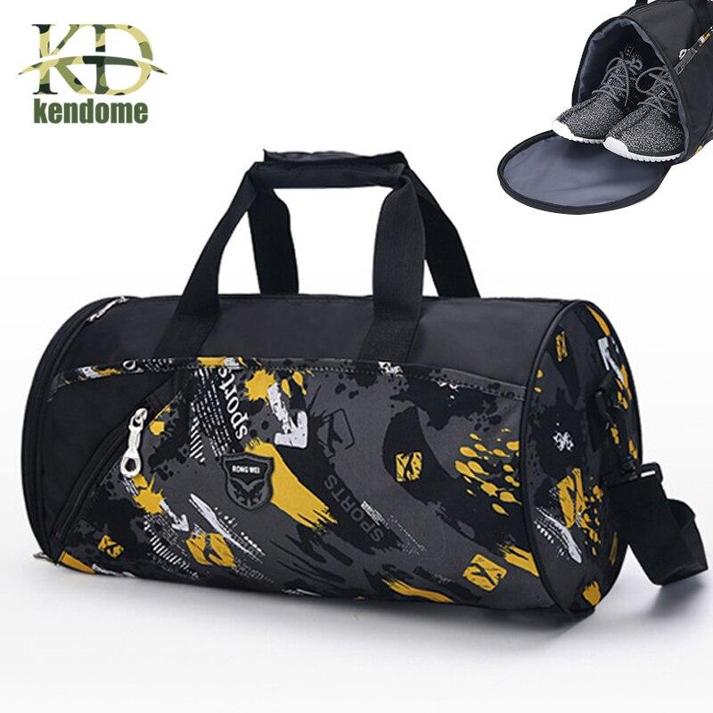 Топ нейлон Открытый Водонепроницаемый спортивные сумки обучение многофункциональные сумка на плечо с независимыми Обувь Карман Путешеств...