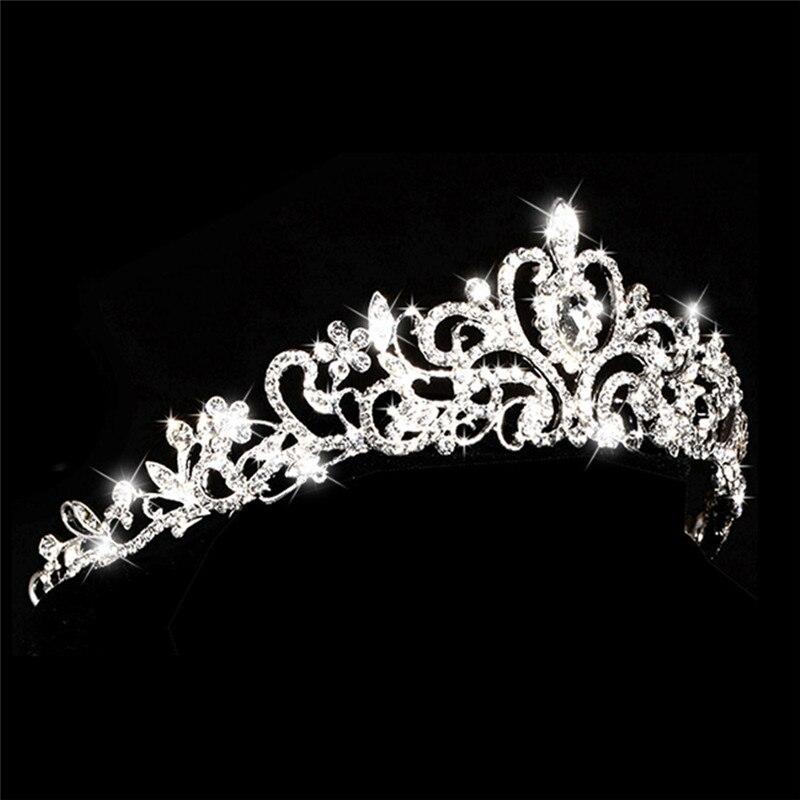 BOAKO Tiaras and Crowns Wedding Hair Accessories Tiara Bridal Crown Wedding Tiaras for Brides Hair Ornaments X7-M3