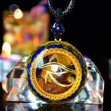 Orgonite Energy Pendant Orgone Crystal Necklace Men And Women Career Amulet Magnetic Field Converter witca