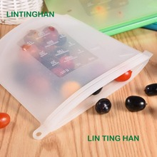 Kitchen Fresh Bag Reusable Silicone Food Freezer Storage Versatile Ziplock silicone food storage bags leakproof