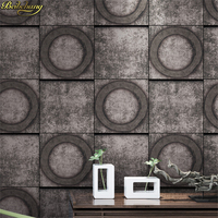 Beibehang Amerikaanse Dorp Retro Behang Bar Cafe Muur papier Gangpad Grijs Cement Patroon Oude papel de parede Industriële Wind 3D