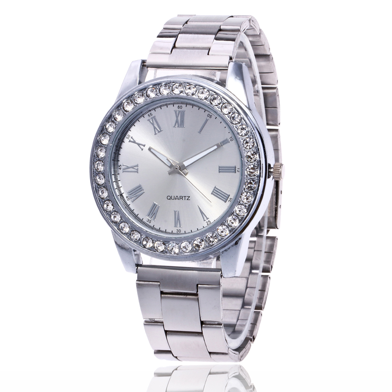 New Luxury Brand Crystal Casual Quartz Watch Women Stainless Steel Dress Watches Ladies Wrist Watch Relogio Feminino Hot Clock new luxury brand dqg crystal rosy gold casual quartz watch women stainless steel dress watches relogio feminino clock hot sale