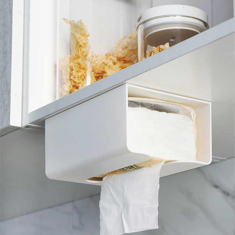 Creative Wall-mounted Tissue Box Plastic Napkin Holder Paper Dispenser for Kitch