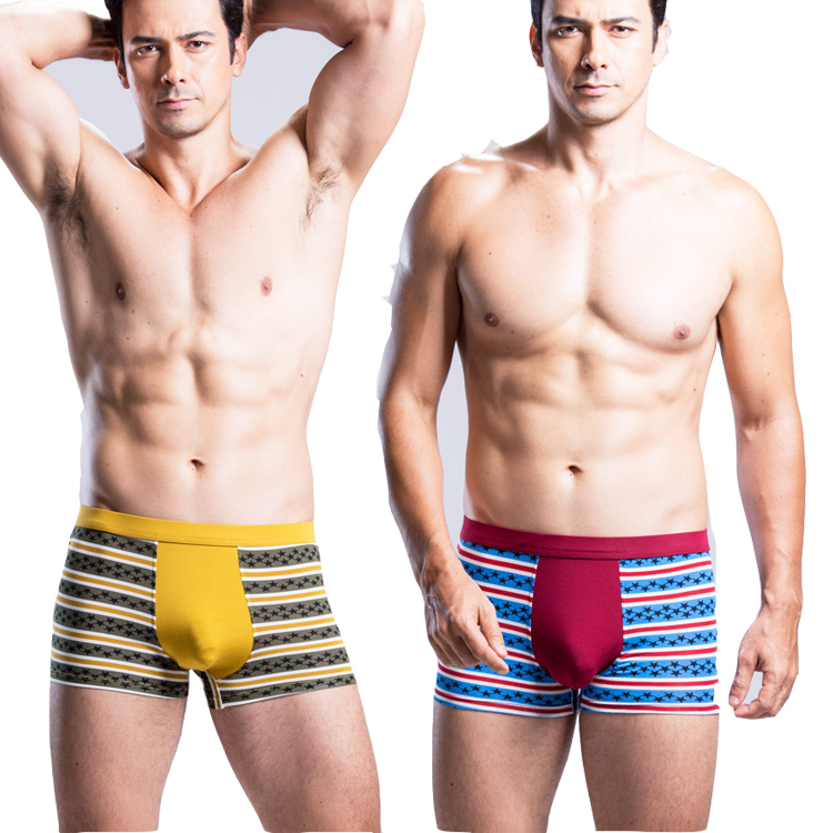 3 colors Men\'s underwear cotton Male Modal Boxer 1...