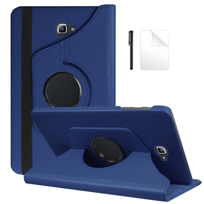 Case T585-Cover T580 Tab-A Samsung Galaxy for 360-Degree Rotating-Folio Film--Pen