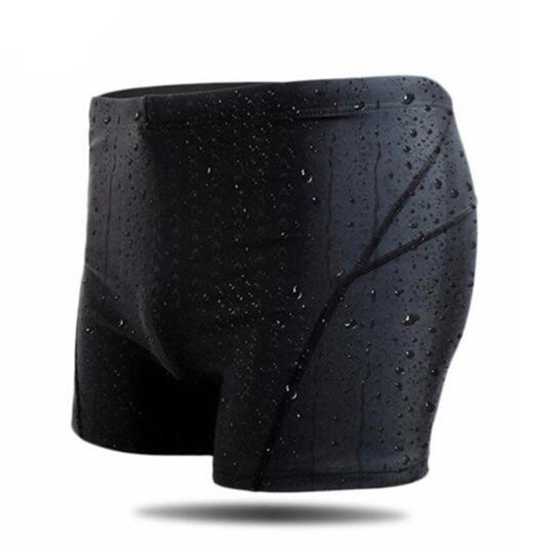 Men Square Leg Elastic Shark Skin Swimwear Surfing Beach Swimsuit Swimming Trunks Breathable Men Boxer Board Short Brief