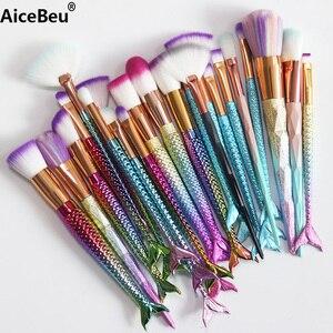 AiceBeu 1 pc Make Up Foundation Eyebrow Eyeliner Blush Brush Mermaid Makeup Brush Diamond brush Cosmetic Concealer Tool
