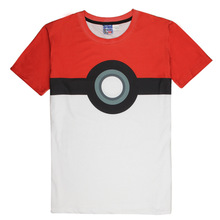 Hot Pokeball Fashion T Shirt Pokemon T shirts 3D Tees Tops Casual Short Sleeve Summer Homme