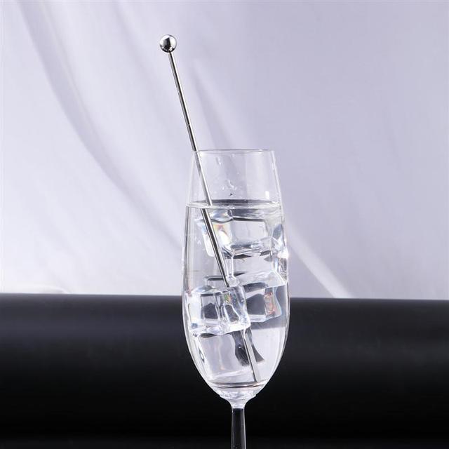 5 uds. Palillos mezcladores creativos de acero inoxidable de 19cm para Bar para fiestas de boda Swizzle