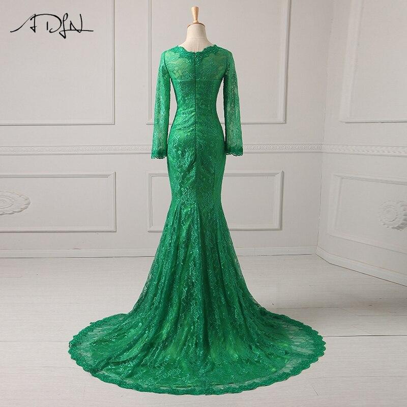 ADLN Billiga Aftonklänningar Långärmad Robe De Soiree Mermaid Lace - Särskilda tillfällen klänningar - Foto 2