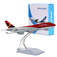 WR AVIANCA S A Boeing 747 Airplane Model Home Decoration Mini Aircraft Model Ornamentation Toy For
