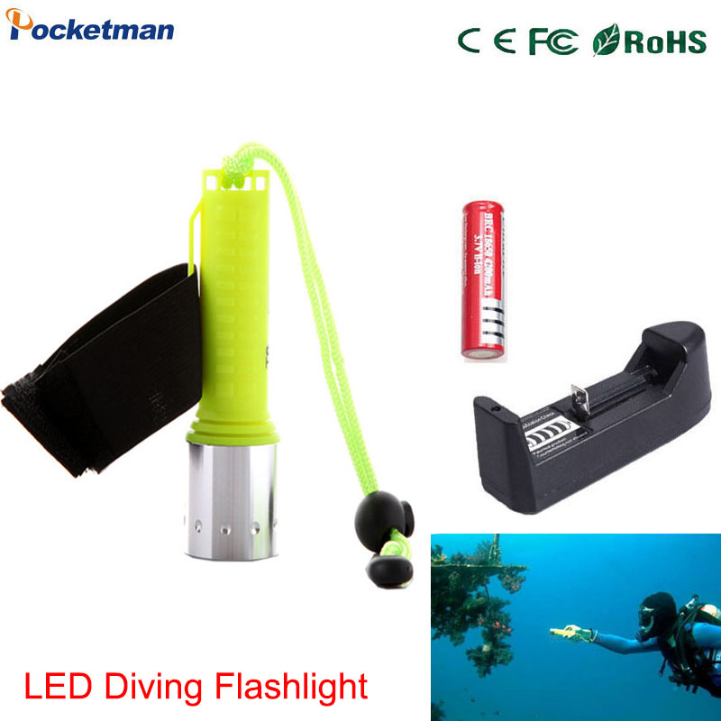tactical powerful led flashlight diving flashlight 18650 flashlight with charger flashlight battery z40