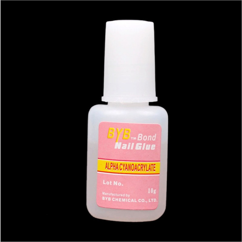 10g NAIL GLUE For False French Tips Nail Art High Quality Nails Care Product nail decoration glue NT032 1 pcs 10g byb false glue nail art tips glitter acrylic decoration with brush false nail gel glue fake nails nail pink label
