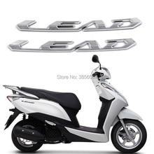 FASP Motocicleta Emblema Emblema etiqueta do carro de Prata Para O CHUMBO 125/100/110 clássico de Corrida Moto Modificado carros decalque