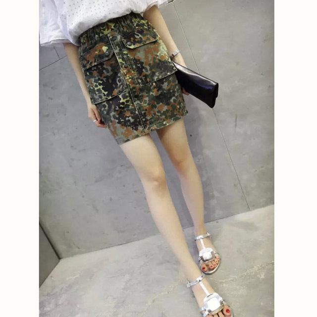 Nice Show School Women Skirts Camouflage Printed Skirts Pockets Mini Skirts Ladies Package Hip Skinny Sporty Skirts CM-P80