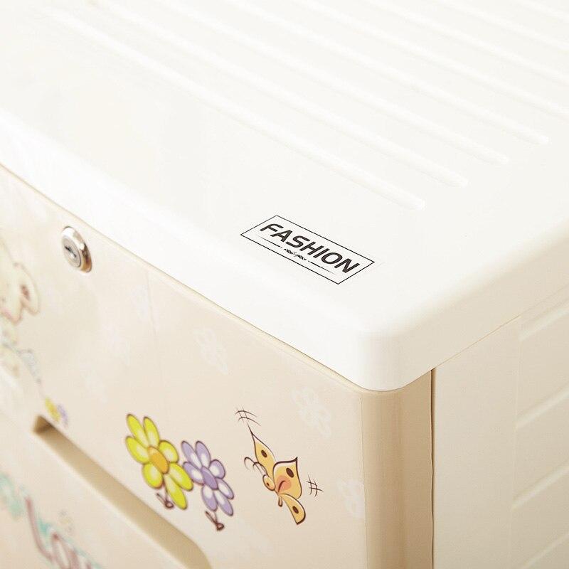 Commode en plastique dans le bureau bricolage 38 cm armoire placard organisateur de rangement pour jouets grande boîte en plastique pour organisateur de chambre - 4