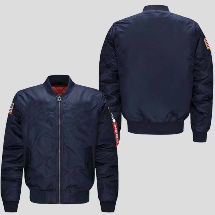 spring autumn man bomber jacket 2019 hot customize design male flight jacket   us size