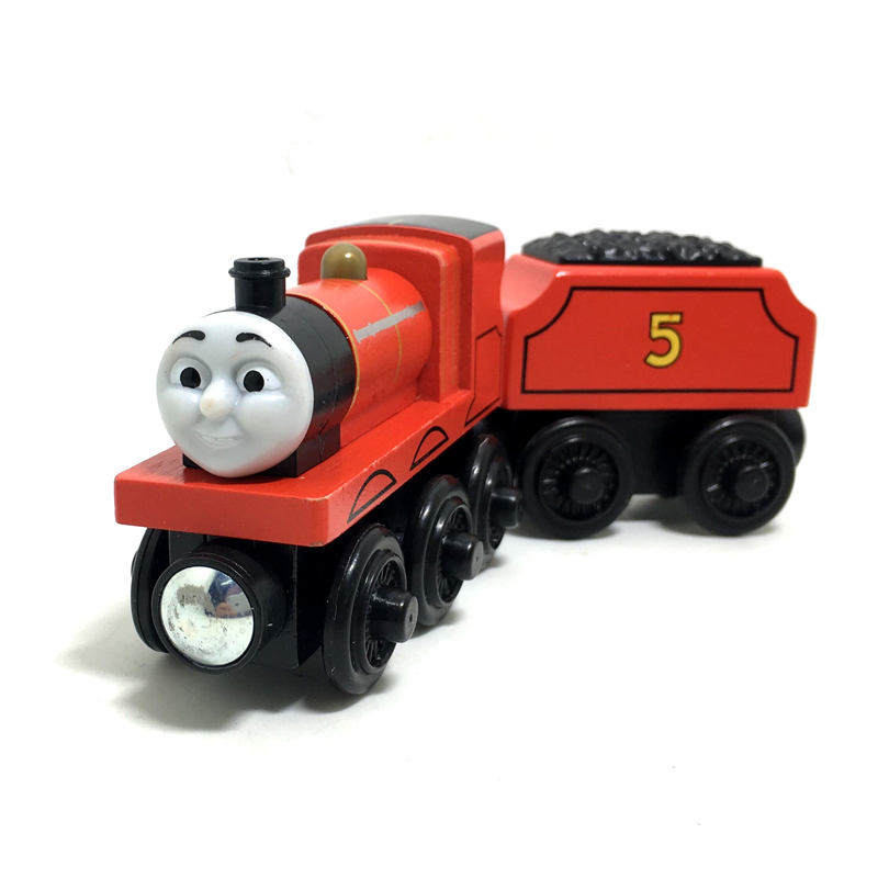 w21 New children wooden toys magnetic Thomas & Friends wooden train model toys Thomas the Tank Engine Train James