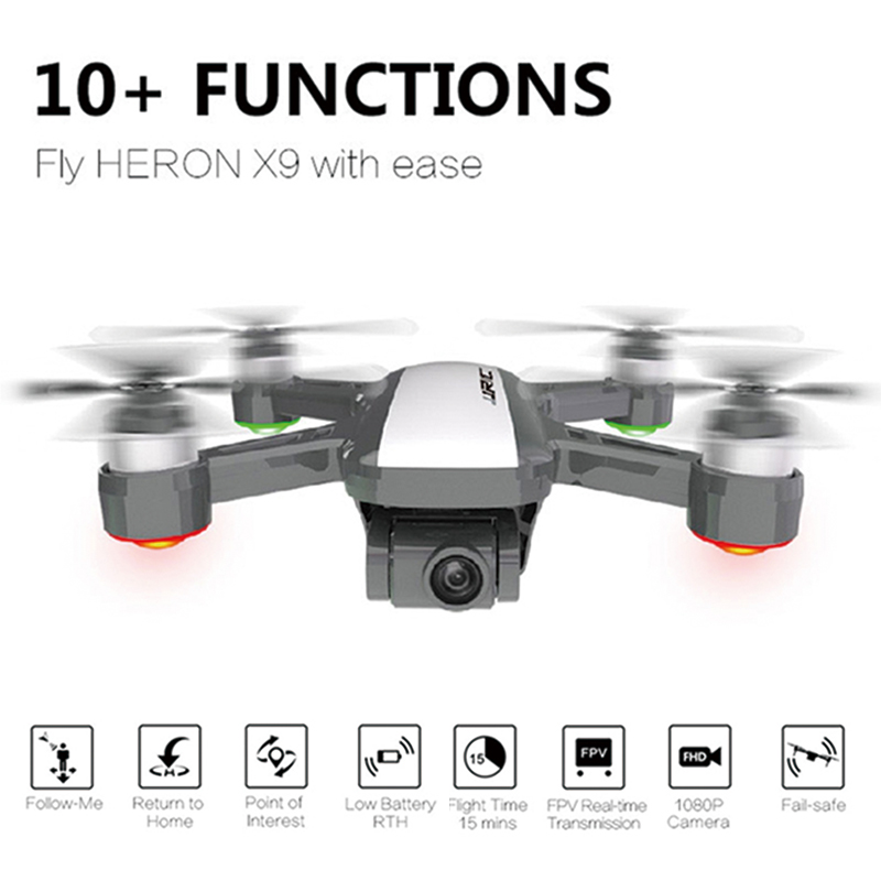 X9 Heron GPS 5G WiFi <font><b>FPV</b></font> with 1080P Camera Optical Flow Positioning Altitude Hold Follow Quadcopter RC <font><b>Drone</b></font> Quadcopter image