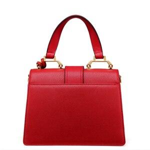 Image 2 - LAFESTIN 2018 Women Handbag Brand Designer Diamonds Real Leather Bag Fashion Women Totes Shoulder Luxury brands Bag bolsa