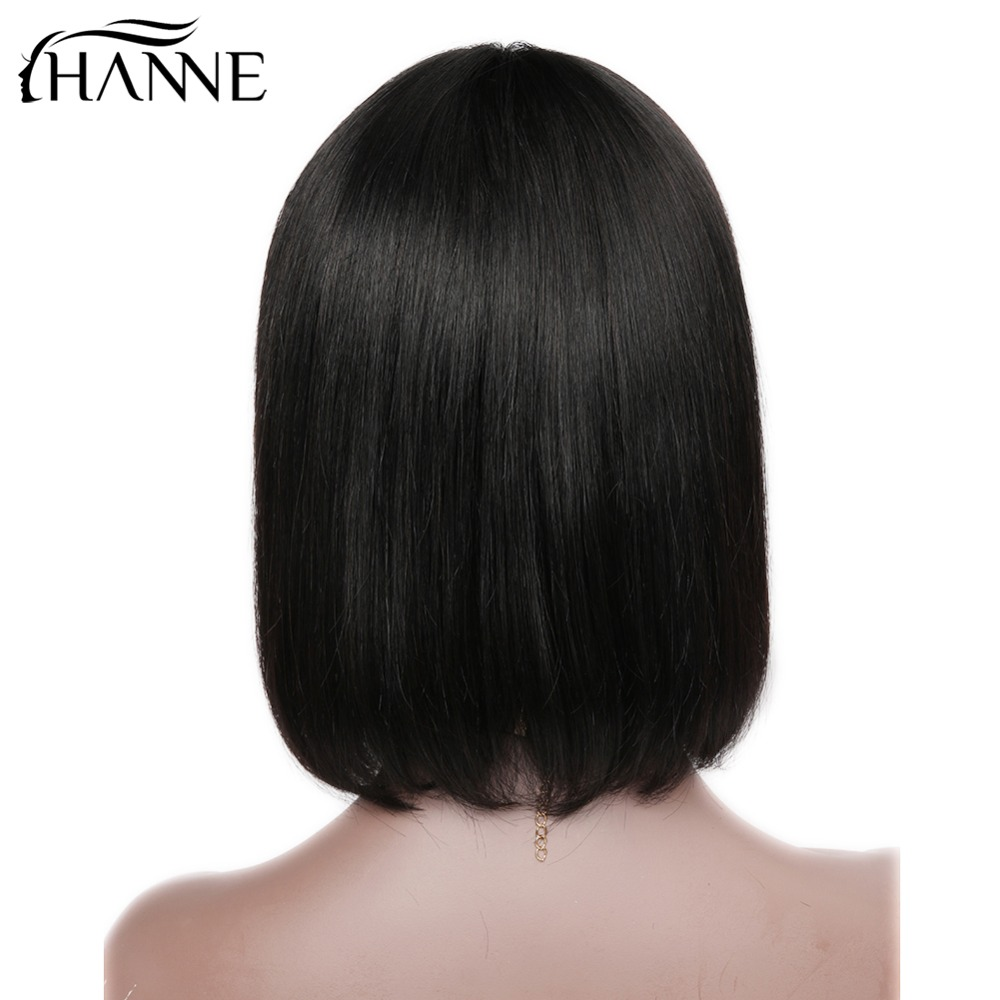 HANNE Hair Brazilian Straight Paryk med Bangs 100% Human Hair - Skønhed forsyning - Foto 5