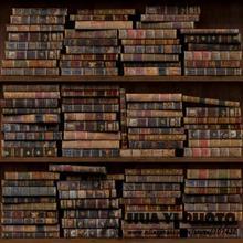 Книжная полка фон фотографии напечатаны с различными старинные ретро книги студия фонов D-8272 книжная полка