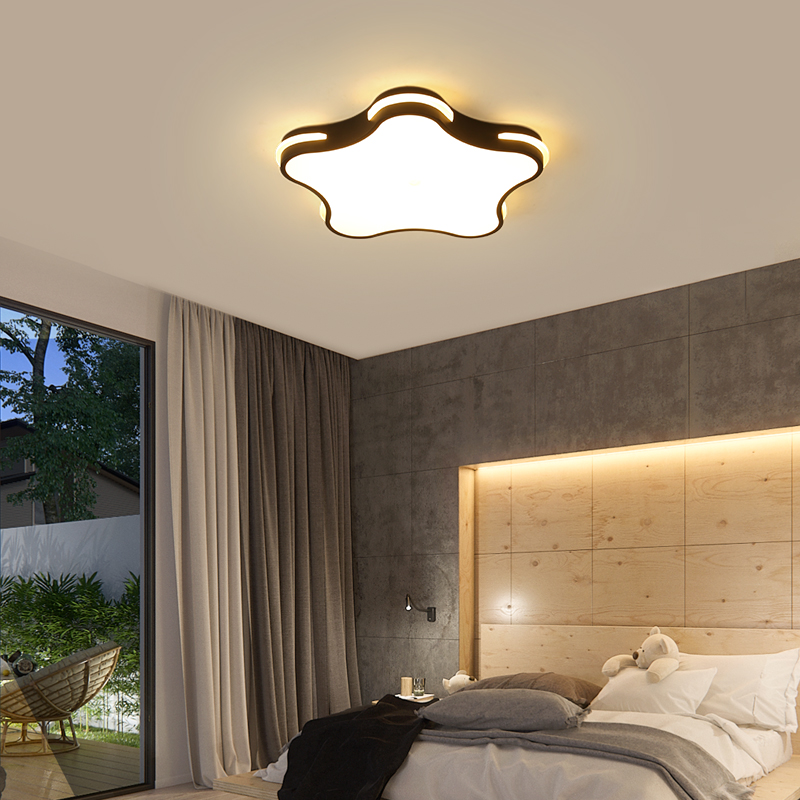 Modern LED ceiling lights Black/white simple decoration study dining room bedroom living room ceiling lamp Lighting Fixtures noosion modern led ceiling lamp for bedroom room black and white color with crystal plafon techo iluminacion lustre de plafond