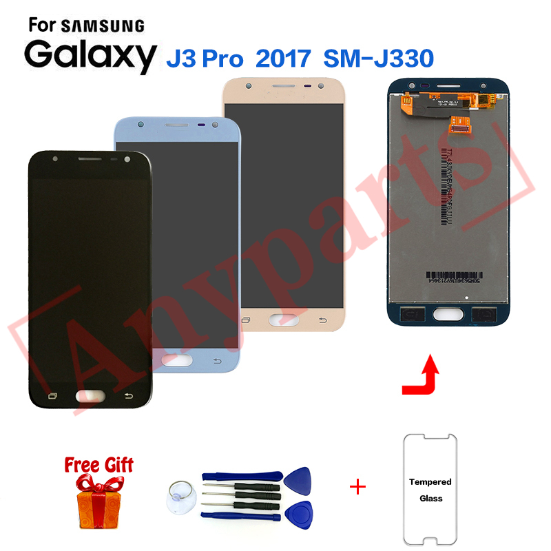 For <font><b>SAMSUNG</b></font> Galaxy J3 Pro SM-J330F Display LCD Screen for <font><b>Samsung</b></font> J3 2017 SM-<font><b>J330FN</b></font> SM-J330G LCD Display Screen Replacement image