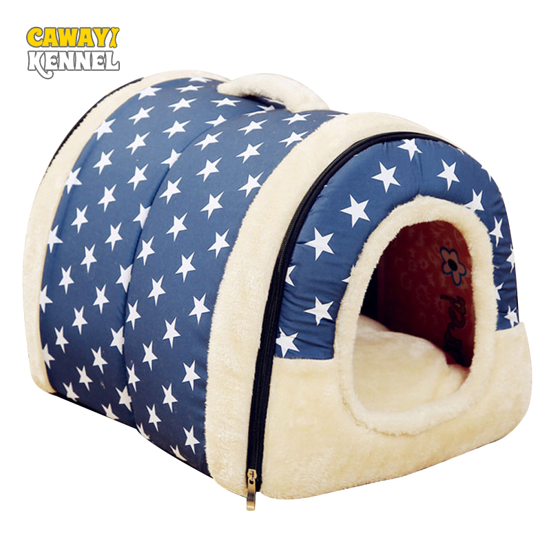 CAWAYI ZWINGER Dual Verwenden Weiche Plüsch Hund Bett Hundehütte Haustier Haus Für Welpen Hunde Katze Kleine Tiere Matte U0856