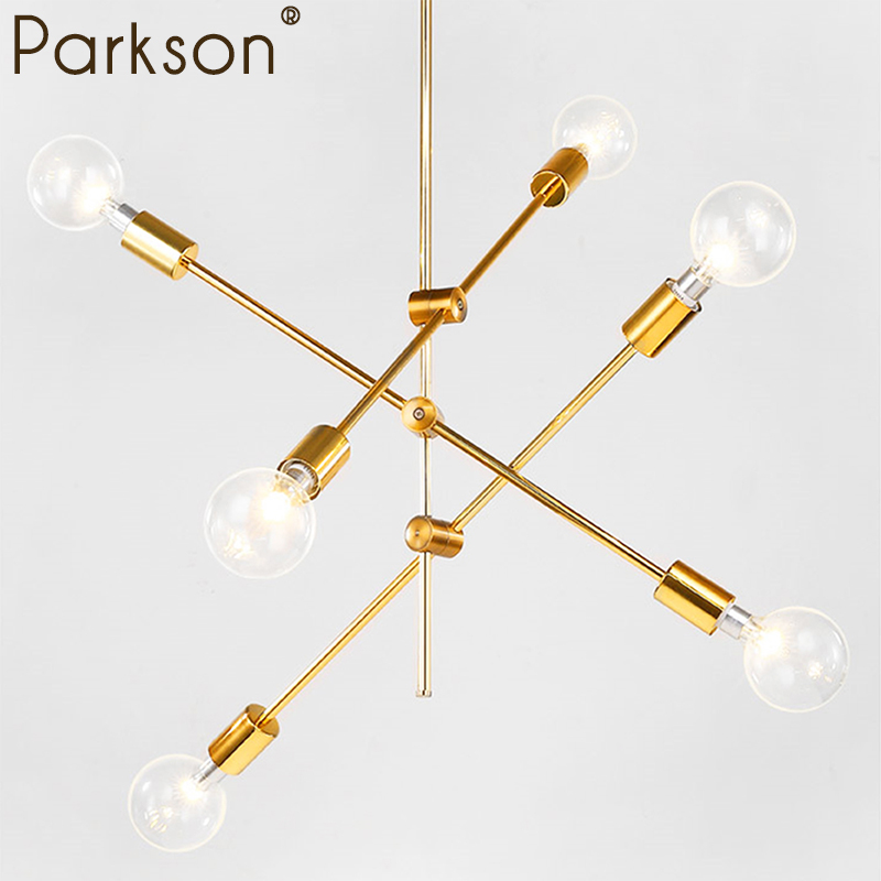 1 2 4 6 Head Modern Simple E27 Pendant light lamp LED dinning bedroom foyer gold Nordic Minimalist Restaurant Hanging lamp light modern simple frp resin foyer e27 led pendant light marcel wanders led pendant lamp internal pattern skygarden led hanging lamp