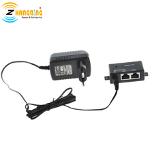Single port Gigabit PoE Injector with 48V 15W EU Plug for Access Point
