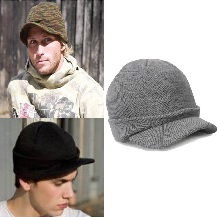 Visors   Beanie   Hat Men Winter Warm Knit   Skullies   Cap Balaclava Male Wool   Skullies     Beanies   Knitted Bonnet Autumn Hats Caps WH669