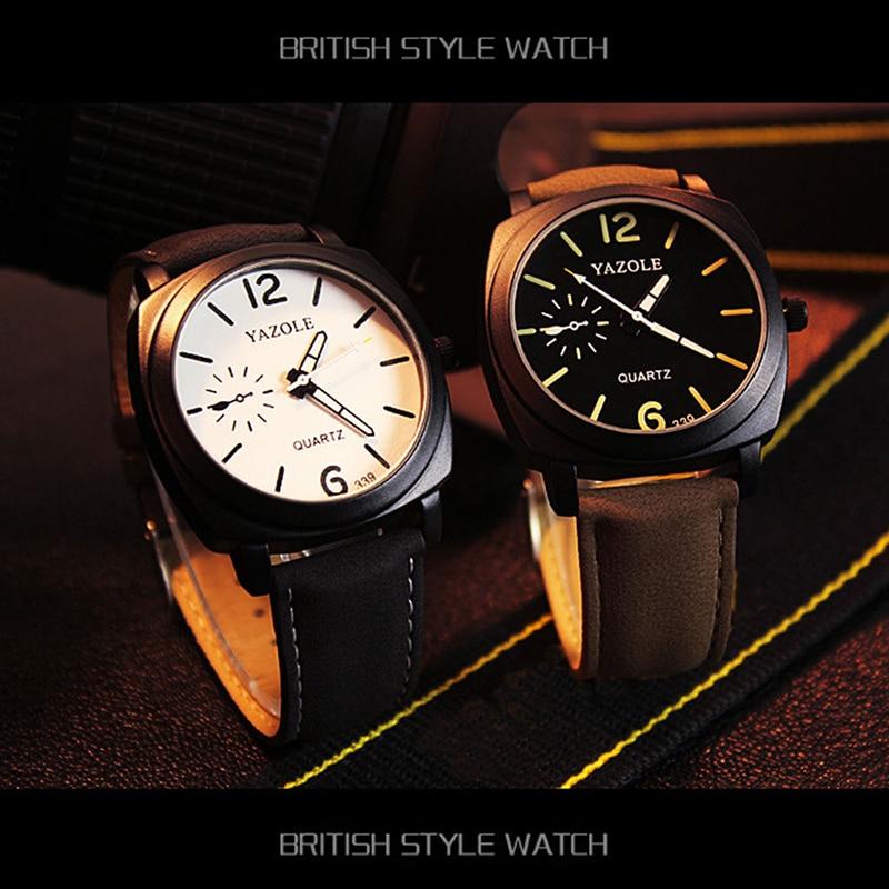 339 Fashion Men Quartz Watch Top brändi luksuslik nahk käekellad - Meeste käekellad - Foto 6