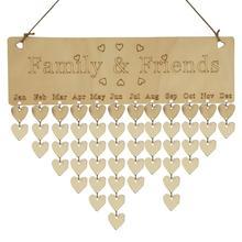 Wood Calendar Hanging Birthday Reminder DIY Board Birch Ply Plaque Sign Family & Friends Gift Drop Shipping YH-461161 цены