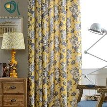 Продвижение, новые прибытия хлопок и лен напечатаны занавес для гостиной/спальни/кабинет на продажу 1 панели, Китайский Пион