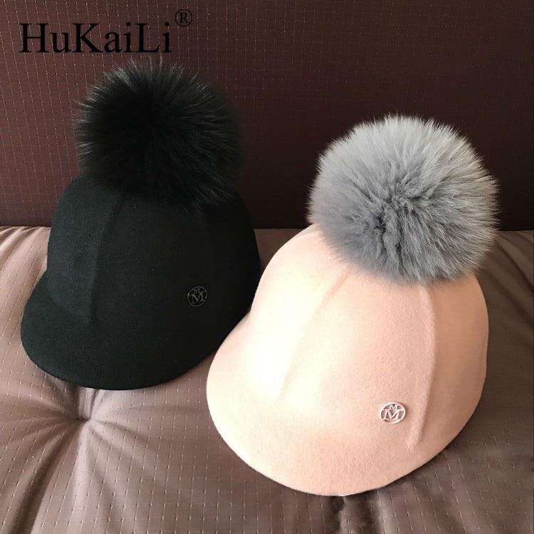 double black metal logo  ,wool, ms course baseball cap equestrian cap hat really fox badminton is lovely