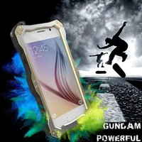 Luxury Gold Phone Case For Samsung Galaxy S6 Edge G9200 G920F Waterproof Triple Protection Metal Case Cover With Gorilla Glass