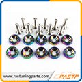 RASTP - 10 Pcs/Pack JDM Style Neo Chrome Fender Washers and Bolt for Honda Civic LS-QRF002N
