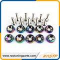 Rastp-10 pcs/pack estilo jdm neo chrome fender anilhas e parafusos para honda civic ls-qrf002n