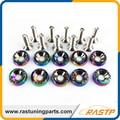 Rastp-10 pcs/pack estilo jdm neo chrome fender arandelas y tornillos para honda civic ls-qrf002n