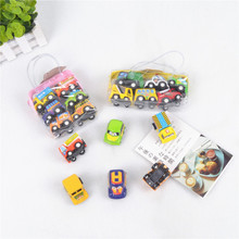 6pcs/set Toys Car Models Classic Boy Girl Truck Vehicle Kids Child Toy Mini Small Pull Back Car Toys For Toddler Children Gift 6pcs lot multicolor plastic cartoon mini pull back boy car model toys set educational toy for children car toys