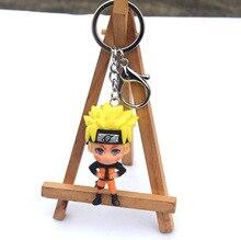 High Quality 2019 new 3D Anime Figure Pokemon  Keychain PVC Cartoon Pocket Monsters Pikachu Naruto Pendant Key Chain Ring