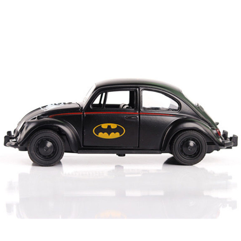 With Box 1/32 Scale Batman Diecast Car Model Black Beetle Classic Vehicles Car Toy for Collection Hobbies Model Toy Kids Gift 1
