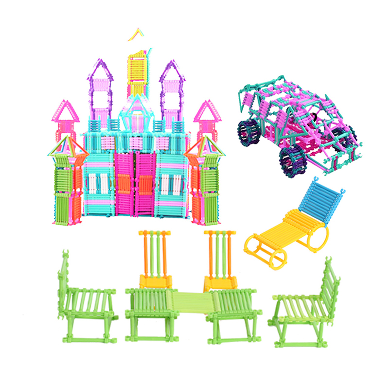 Kids Smart Stick Inserted Building Blocks Assembled Cognitive Imaginative Toys Develop Hands-on Ability & Intelligence Gift