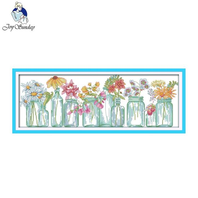 Joy Sunday Floral Style The Flower Vases Long Free Counted Cross