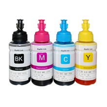 4 Colors Dye Based refill ink kit for Epson L100 L110 L120 L132 L210 L222 L300 L312 L355 L350 L362 L366 L550 L555 L566 printer чернила cactus cs ept6641 250 для epson l100 l110 l120 l132 l200 l210 l222 l300 l312 l350 l355 l362 l366 l456 l550 l555 l566 l1300 черный 250мл