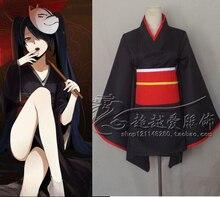 Vocaloid Hatsune Miku Kimono Cosplay Barato Lolita Maid Disfraces para Mujeres Fiesta de Halloween COS Ropa