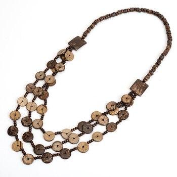 a783e0087ac1 Vintage Bohemia borla largo collar multicolor cáscara de coco cuentas Boho Collares  para las mujeres joyería de traje